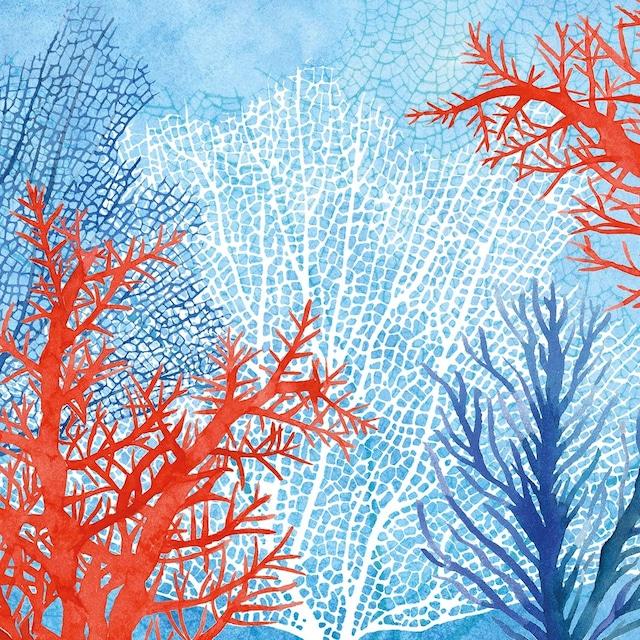 【Paperproducts Design】バラ売り2枚 ランチサイズ ペーパーナプキン The Ocean ブルー