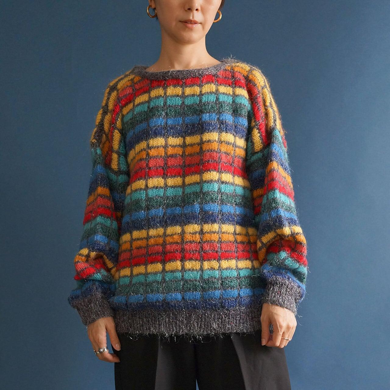 【送料無料】Colorful Vintage Handmade Knit