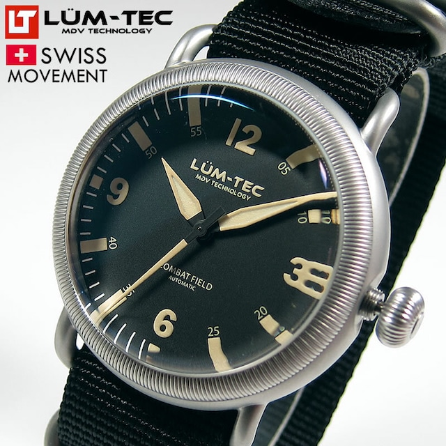 【世界限定100本】【即納品】COMBAT FIELD X1 コンバット・フィールド 44mm 自動巻き スイス製SELLITA SW200ムーブメント採用 メンズ 腕時計【LUM-TEC/ルミテック】