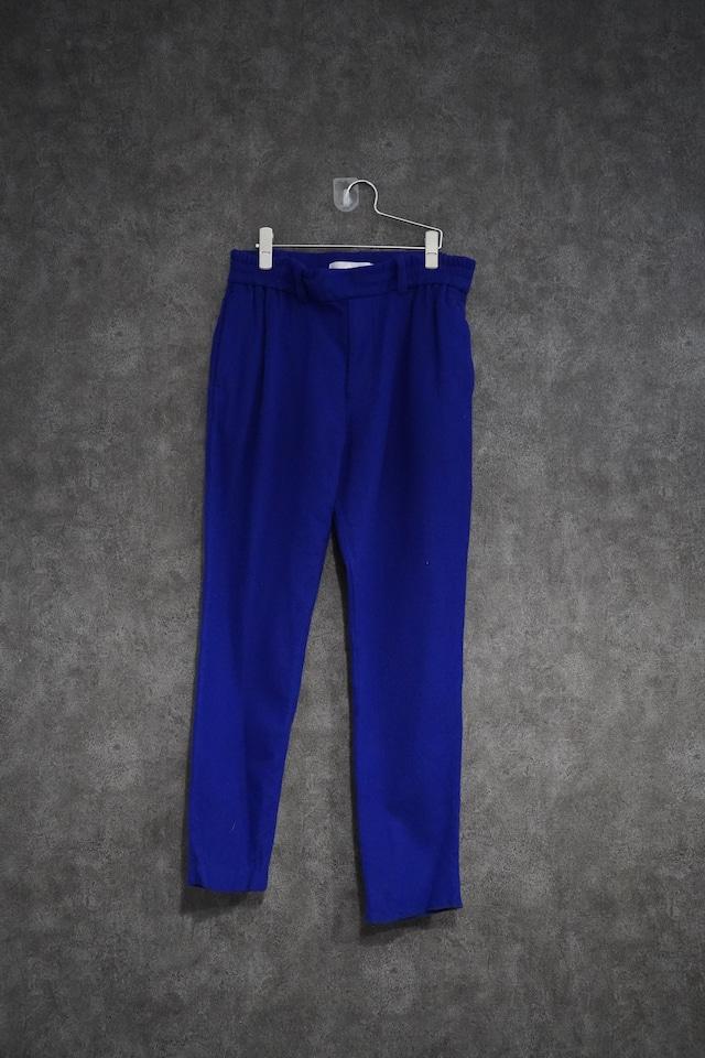 ETHOSENS    wool easy pants   Blue (新古品)