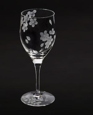 桜 - 花切子- ワイングラス