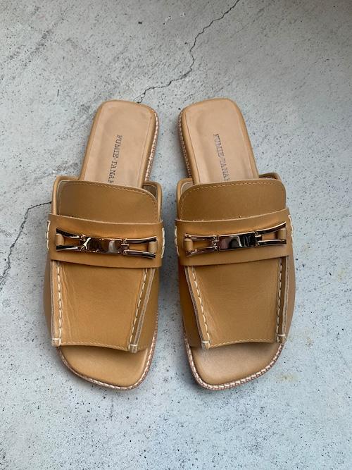 FUMIE=TANAKA bit loafer sandal  (Nude)