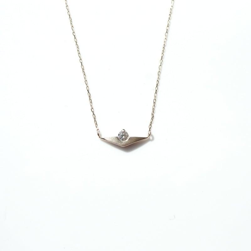 Sunset Necklace - K10YG,Dia