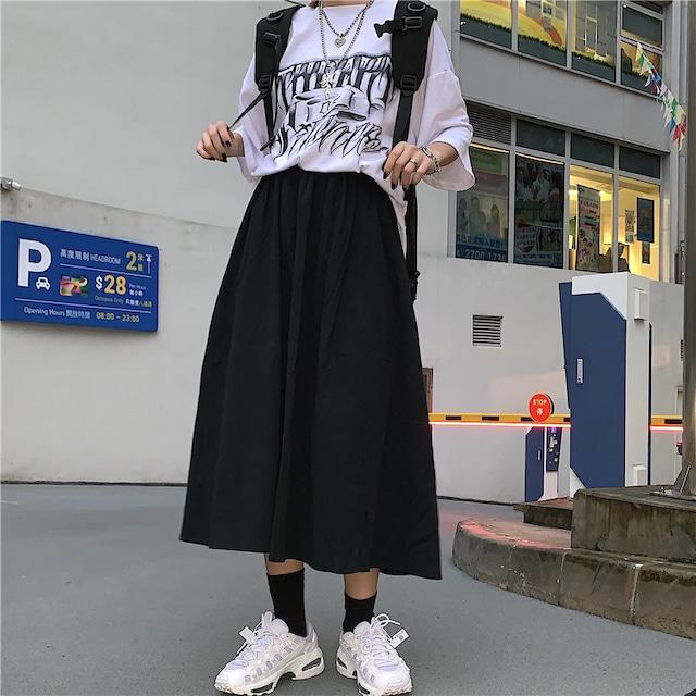 【ボトムス】カジュアル無地Aラインスカート43008307