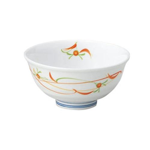ろくべい茶碗 小(口径11cm) 子ども・女性向け 赤絵小花【2001-4230】