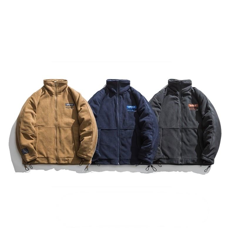 【UNISEX】ポーラー ラグラン フリース ジャケット 【3colors】