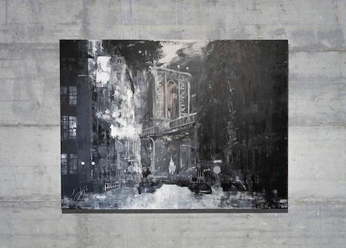 New York, city scape composition #14 (額入り特別作品)