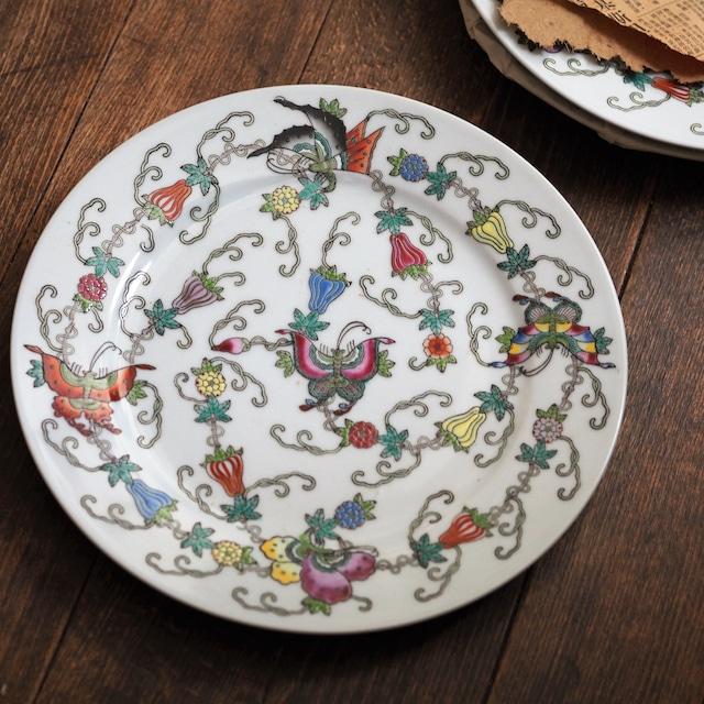 『バタフライの丸皿23センチ』景徳鎮