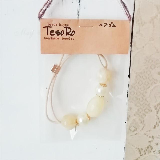 TesoRo:ヘアゴム イエロー 葉 手首に付けても可愛い♪