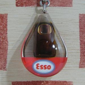 フランス ESSO[エッソ]モーターオイル缶 動くブルボンキーホルダー