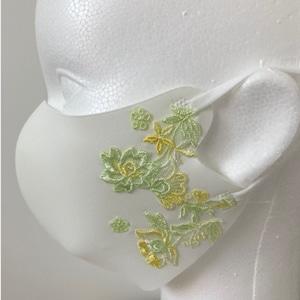 ファッションマスク-023ホワイトイエローA