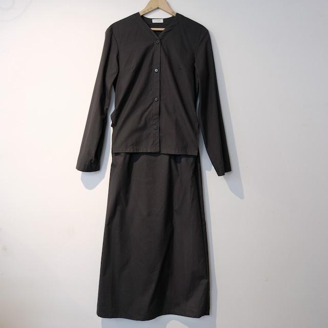 【the Sale!  40%off 】THE HINOKI ザ・ヒノキ  コットンパラシュート クロスセットアップドレス BLACK