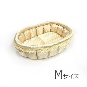 ふーじこちゃんママ手作り ぽんぽんベッド(サテンクリーム)Mサイズ【PB16-054M】