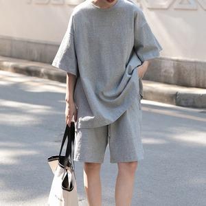 【2点セット】2色/ルーズシャツ+パンツ ・2789