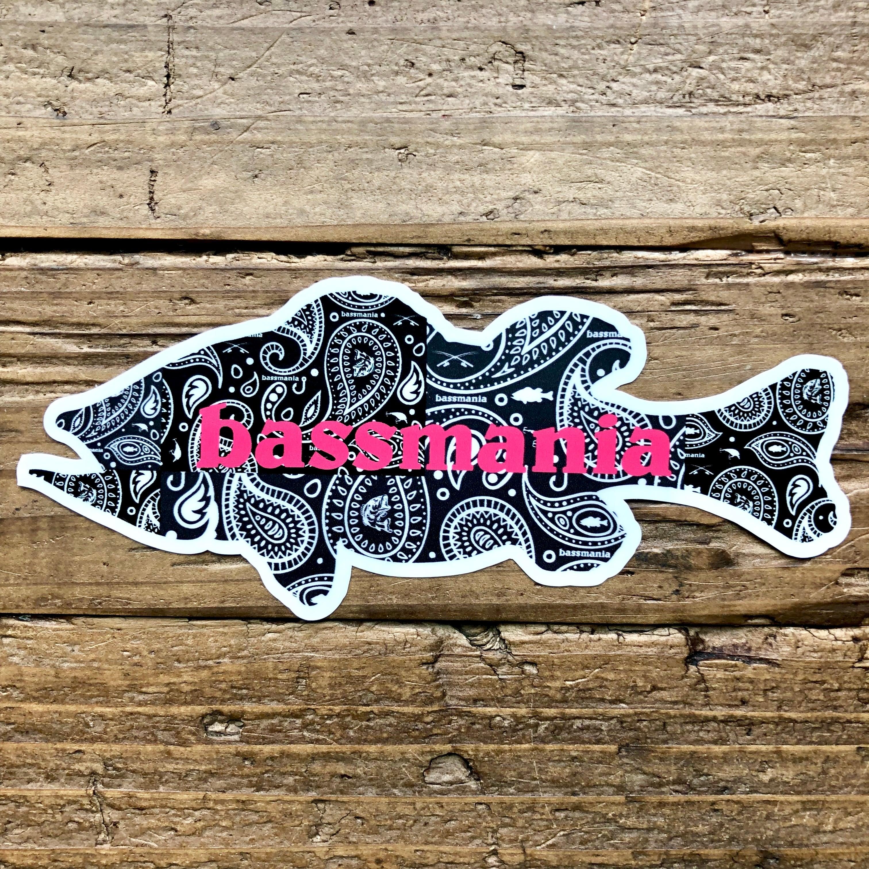 Paisley bass sticker