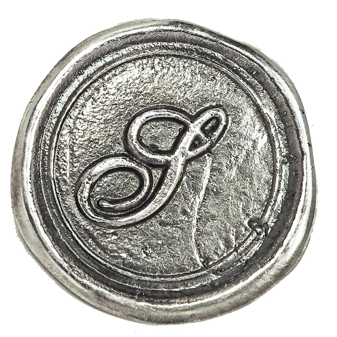 シーリングイニシャル LL 〈S〉 シルバー / コンチョボタン