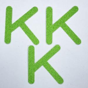 切り文字 A&Cペーパー パルプロックPBR‐006(グリーン) 粘着付 ローマ字「K」
