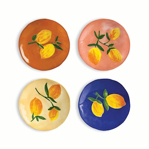 &k amsterdam - Plate -  Lemon full colour set