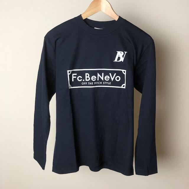 BV×Fc.BeNeVo STANDARD LOGO LONG SLEEVE-T (NAVY)
