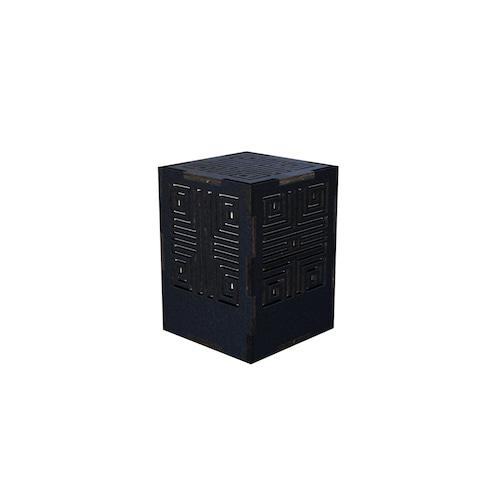 ミニ行灯 メイズ - 置き型照明 Sサイズ ブラック