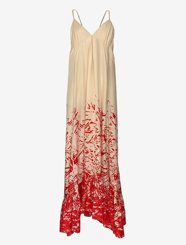 DIANE von FURSTENBERG Andy Warholロング ドレス