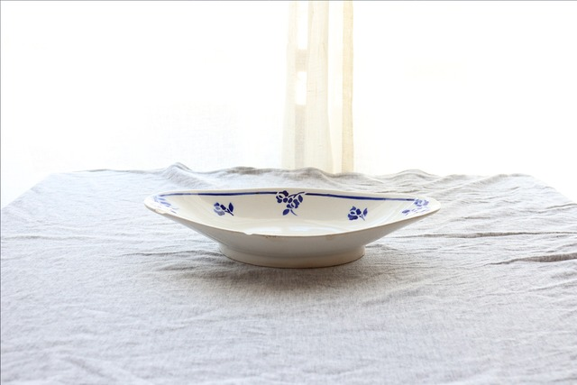【Digoin sarreguemines/ディゴワン・サルグミンヌ】オーバル皿/1920-50年代