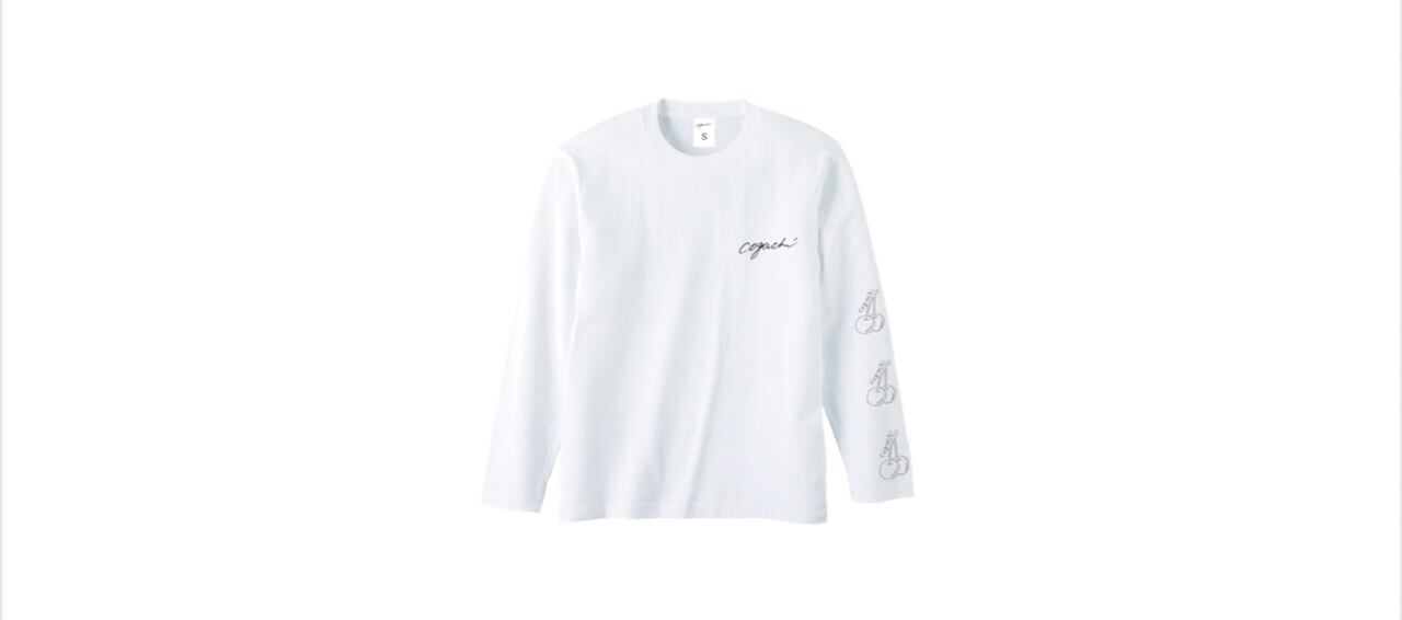 coguchi cherry long T-shirts (WH/GRY)