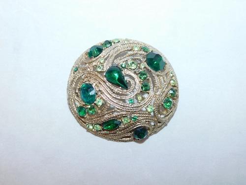 緑色ブローチ(ビンテージ) green color vintage  brooch