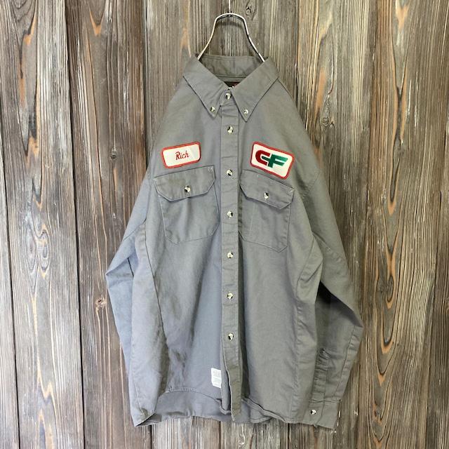 [used]Bulwark  gray work shirt