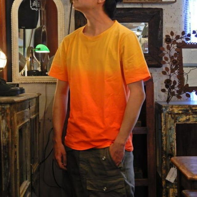 TOPANGA fashion グラデーションTシャツ オレンジ