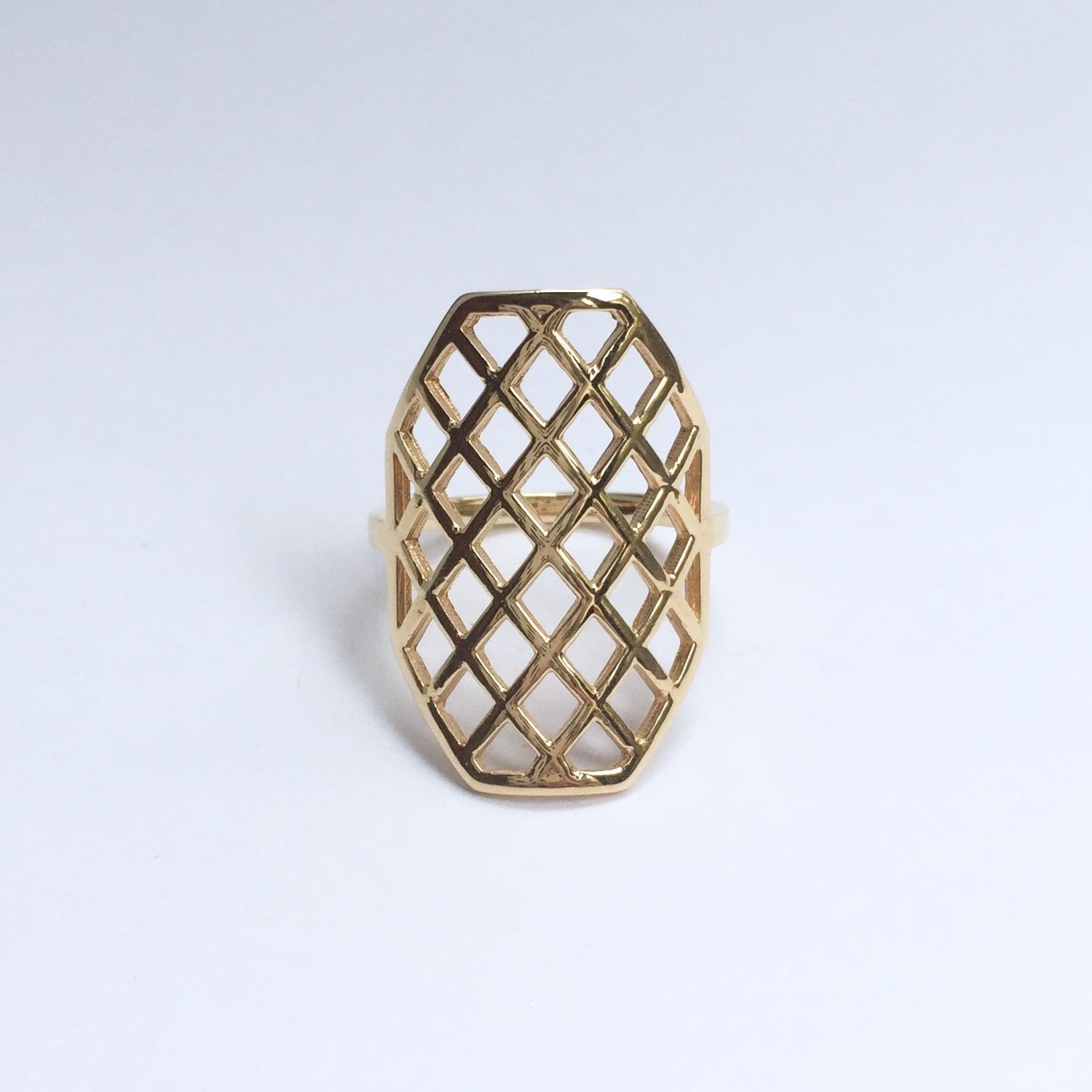 Octagon Ring / K18YG