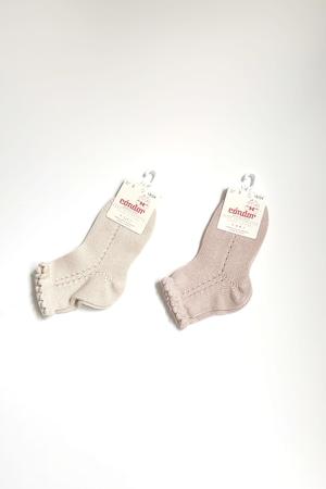 condor Pearl side openworks short socks  baby