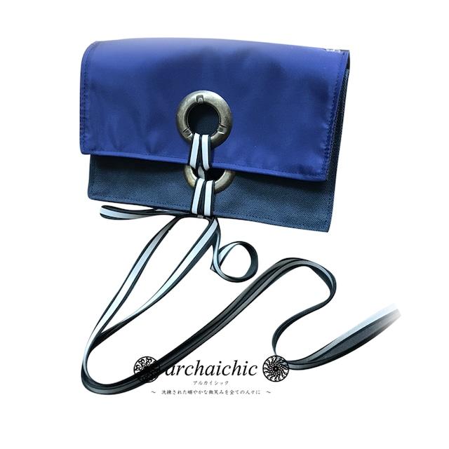 T・U・N・A・G・M・U 2Way Bag in Bag / Solide – Réticule 青褐