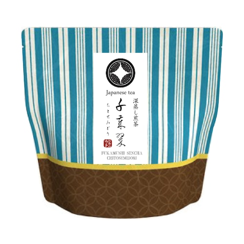 【いろどり】深蒸し煎茶 千歳翠(ちとせのみどり)40g