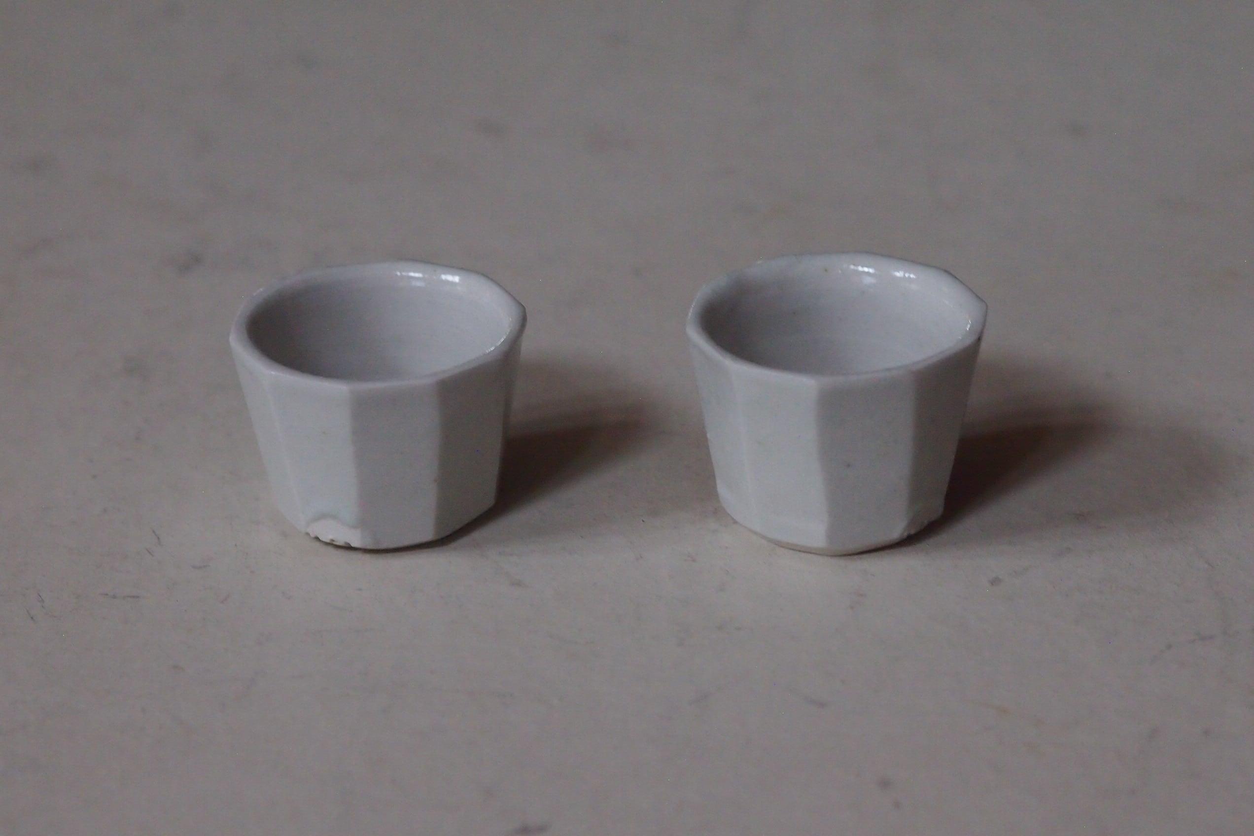 伊藤環 646.白磁十角茶杯