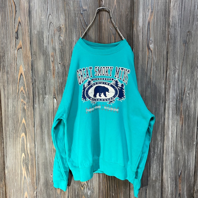 [used]Great smoky mtns light blue sweat