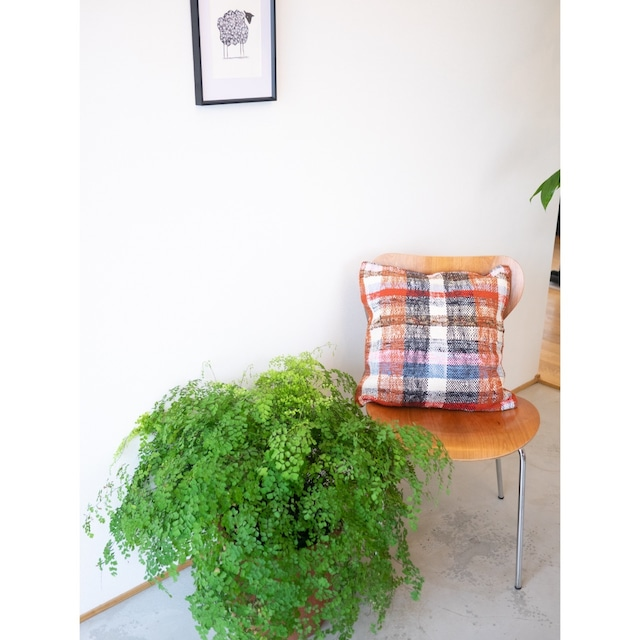 Kilim Cushion Cover <Red Check>