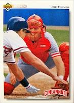 MLBカード 92UPPERDECK Joe Oliver #101 REDS