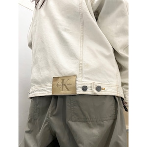 90's Calvin Klein ブリーチ デニムジャケット