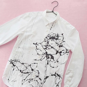 F's rose 【 藤井清秀  シャツアート】薔薇 M