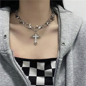 【小物】韓国系ins個性派ストリート系シンプルチタン鋼ネックレス43359801