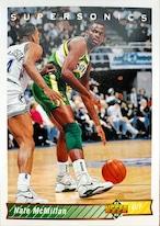 NBAカード 92-93UPPERDECK Nate McMillan #291 SUPERSONICS
