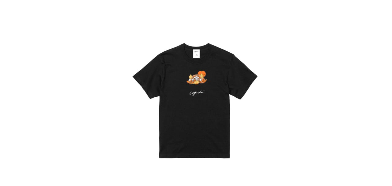 coguchi orange graphic T-shirts (BK)