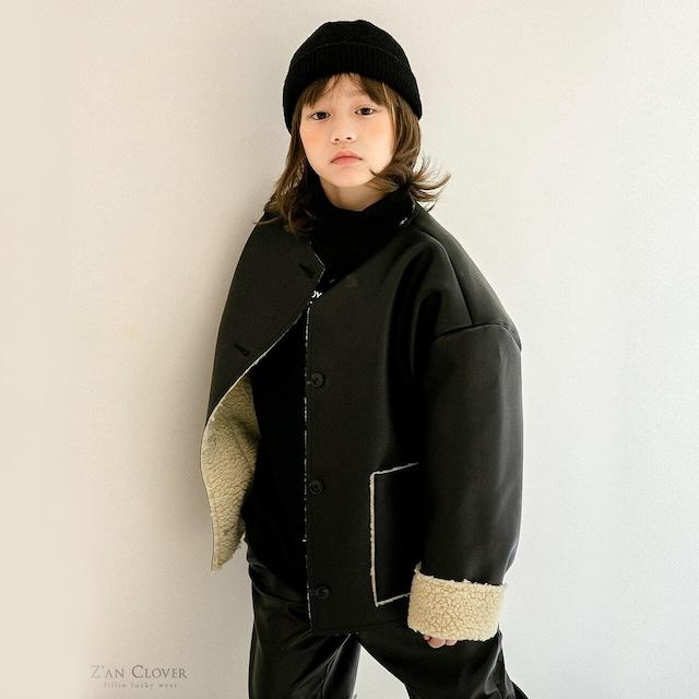 送料無料«先行予約割引»«Z'an Clover» fake leather jacket フェイクレザージャケット