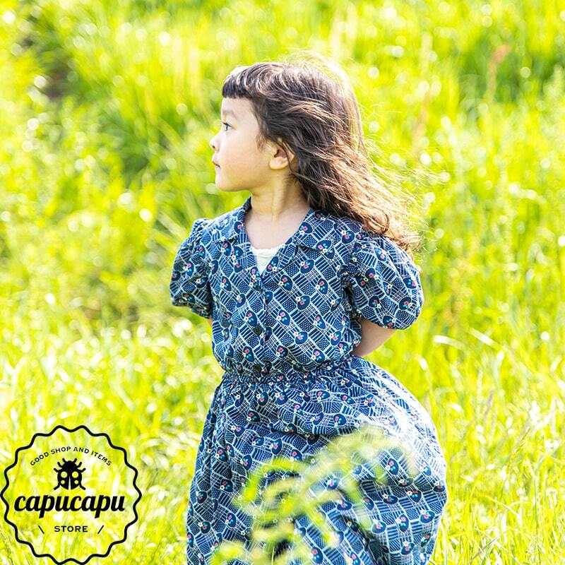 «sold out» kids size retro flower one-piece 2colors レトロワンピース キッズサイズ