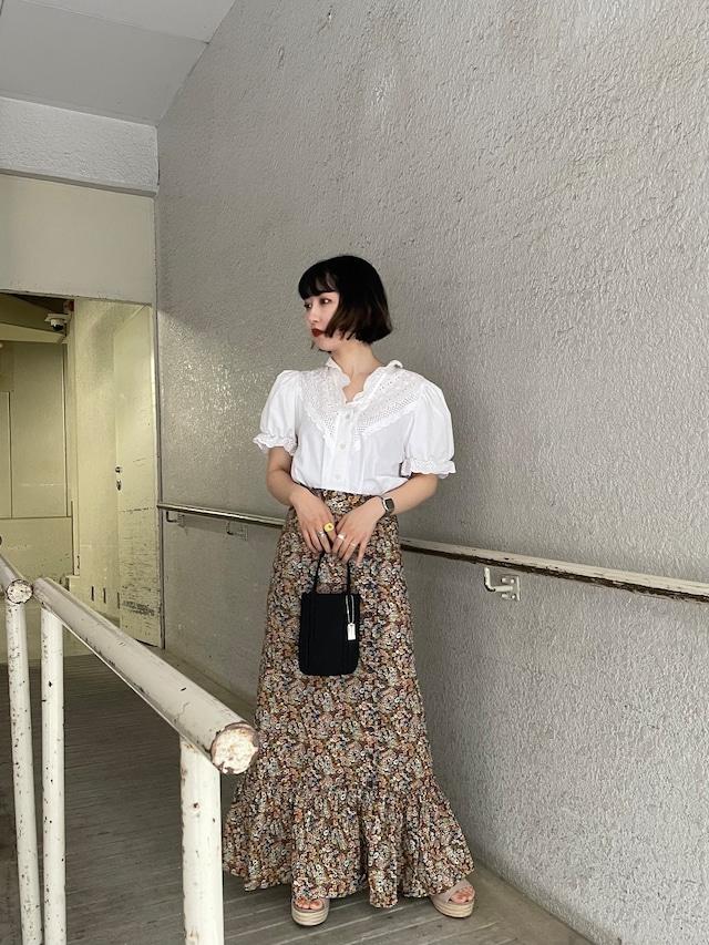 floral  tiered skirt / 7SSSK20-04