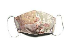 【レディース和柄マスク 高級留袖生地使用 日本製】 高級和柄マスク lw01