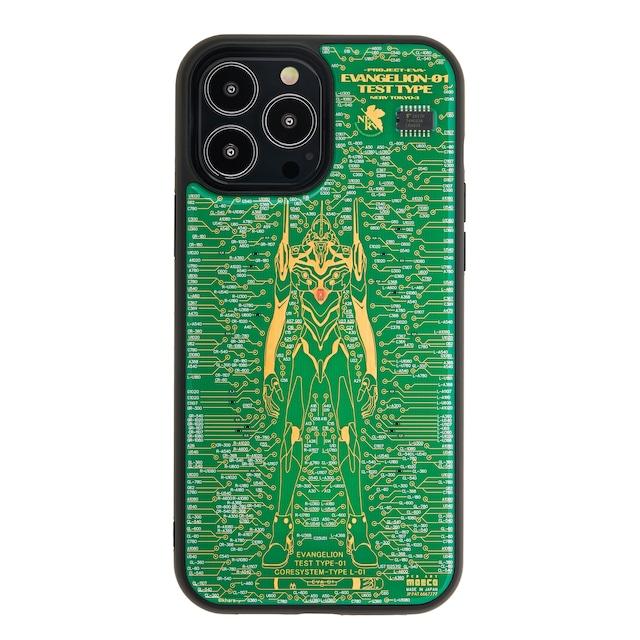 FLASH EVA01 基板アート iPhone 13Pro Maxケース 緑【東京回路線図A5クリアファイルをプレゼント】