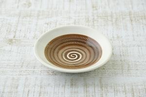 傳 四寸皿  (茶呉須)