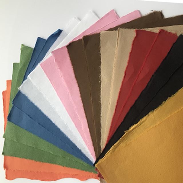 手漉き和紙セット各色2枚(全10色)20枚入り